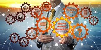 Man Questioning Behavior Influence Measurement royalty free stock image