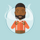 Man quit smoking vector illustration. Royalty Free Stock Images