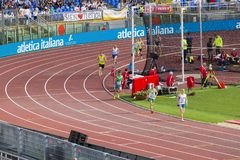 Man race. On Diamond League in Rome, Italy in 2016 stock photos