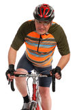Man on race road bike Stock Photography