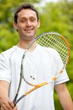 Man with a racket Royalty Free Stock Photos