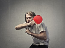 Man with racket Royalty Free Stock Image