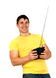 Man with radio remote control Royalty Free Stock Photography