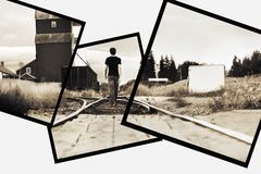 Man On Railway Tracks Stock Images