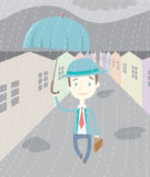 Man in the rain Royalty Free Stock Photography