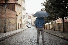 Man in rain Royalty Free Stock Image