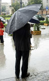 Man on rain Royalty Free Stock Image