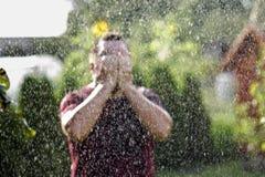 Man in the rain Royalty Free Stock Photos