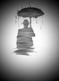 Man in the rain Stock Image