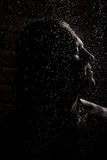 Man in the rain Royalty Free Stock Images