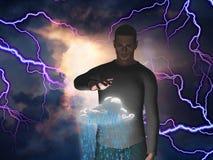 Man with raincloud Royalty Free Stock Photos