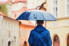 Man in rainy day Stock Photos