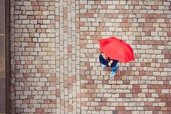 Man in rainy day Royalty Free Stock Image