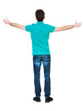 A man raised his hands in prayer. Stock Photography