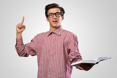 Man raised his index finger Royalty Free Stock Image