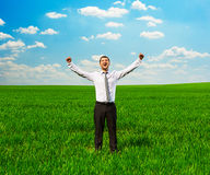 Man raising hands up Royalty Free Stock Photo