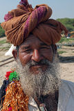 Man from Rajasthan with turban Royalty Free Stock Photo