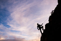 Man rappeling Royalty Free Stock Photography