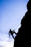 Man rappeling Royalty Free Stock Images