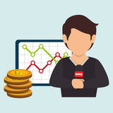 man rating news money Royalty Free Stock Photography