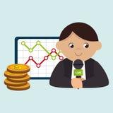 man rating news money Stock Photos