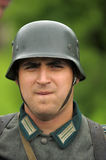 Man re-enactor of hostilities of World War II Stock Images