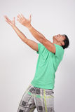 Man reaching out his arms Royalty Free Stock Photos