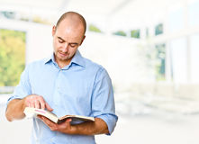Man read book Stock Image