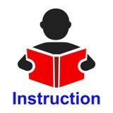 Man read a book simple icon. Education symbol. Instruction manual icon - vector. Ðœan read a book simple icon. Education symbol. Instruction manual icon vector illustration