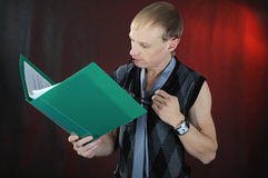 Man read documents. Royalty Free Stock Photo