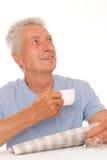 Man read the newspaper Stock Photos