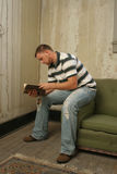 Man Reading Stock Photo