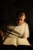 Man reading. Mature man reading a Bible Stock Photos
