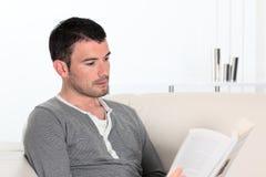 Man reading Royalty Free Stock Photo