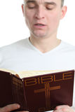 Man reading the Bible Stock Photos