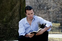 Man reading Bible Royalty Free Stock Photos