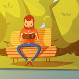 Man Reading The Bible Illustration Stock Photography