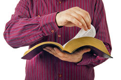 Man reading a Bible Royalty Free Stock Photo