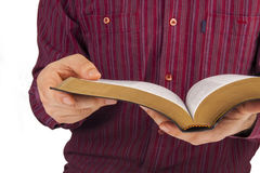 Man reading a bible Stock Image