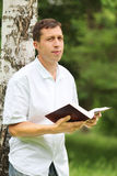 Man reading the Bible Royalty Free Stock Images