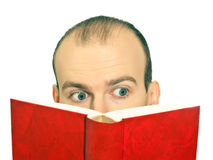 Man reading a book Royalty Free Stock Image