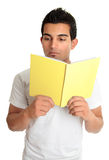 Man reading from a book Royalty Free Stock Photography
