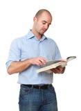 Man reading a book Royalty Free Stock Photos