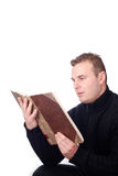 Man reading a book Stock Photo