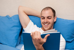 Man reading a book Stock Photography