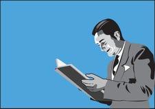 Man reading a book royalty free illustration