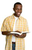 Man Reading Book. African american man reading book Royalty Free Stock Photo