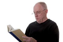 Man Reading Book Stock Image