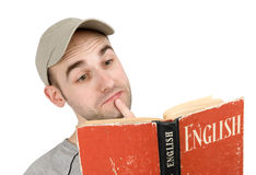 Man Reading Book Stock Photography