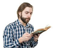 Man reading the book Stock Image